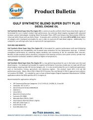 Product Bulletin - Gulf Lubricants