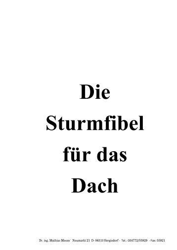 Sturmfibel - MEESE Holzbau & Tragwerksplanung