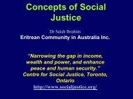 Concepts of Social Justice - Ehrea.org
