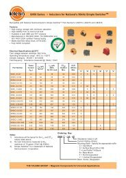 SH50 Series - Inductors for National's 50kHz simple ... - Talema India