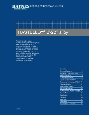 HASTELLOY® C-22® alloy - Haynes International, Inc.