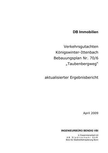 DB Immobilien Verkehrsgutachten Königswinter-Ittenbach ...
