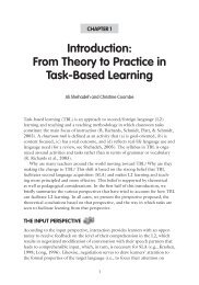 Introduction: From Theory to Practice in Task-Based Learning