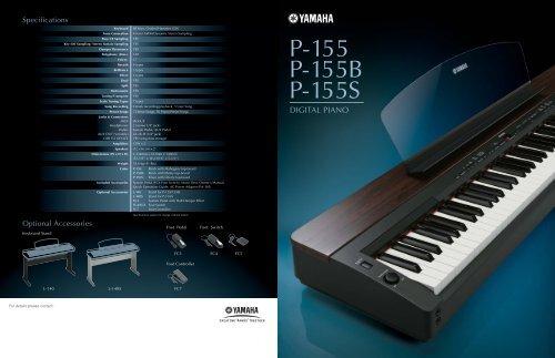 Brochure Yamaha Portable piano P 155 - Clavis Piano's