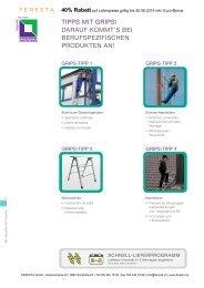 Arbeitspodest klappbar - FERESTA GmbH