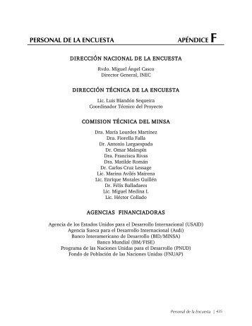 PERSONAL DE LA ENCUESTA APÉNDICE F - Measure DHS