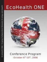 Conference Program - EcoHealth
