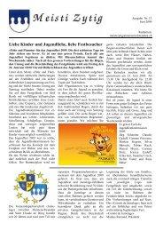 Ausgabe Nr. 13 [PDF, 1.00 MB] - Gemeinde Meisterschwanden