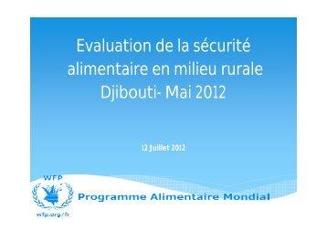 Evaluation de la sécurité alimentaire en milieu rurale Djibouti- Mai ...