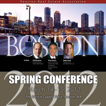 SPRING CONFERENCE - Pension Real Estate Association