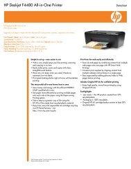 HP Deskjet F4480 All-in-One Printer - Memotec