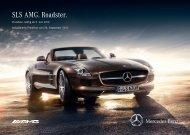 Preisliste SLS AMG Roadster - Mercedes-Benz Deutschland