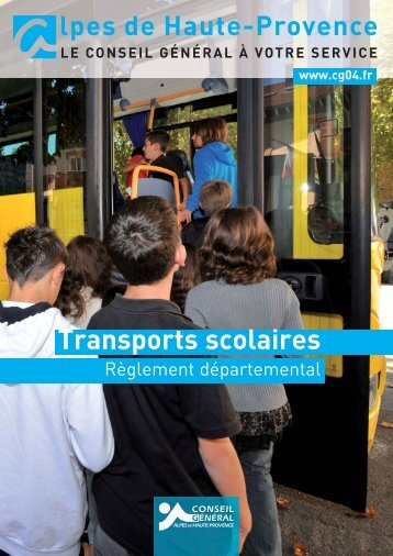 reglement departemental des transports scolaires - Conseil Général ...