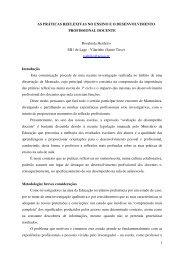1 AS PRÁTICAS REFLEXIVAS NO ENSINO E O ...