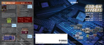 Add-On Effects Brochure 4.8MB - Yamaha Commercial Audio
