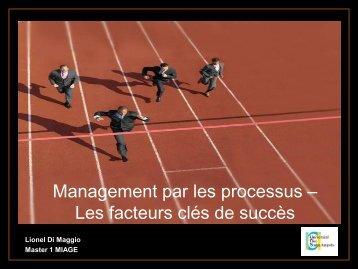Management par les processus – Les facteurs clés de succès
