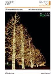 LED Weihnachtsbeleuchtungen LED Christmas Lighting info@elbro ...