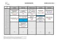 Horarios 2010-2011-6 octubre - Resad