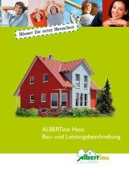 ALBERTino Haus Bau- und Leistungsbeschreibung - Kowalski Haus