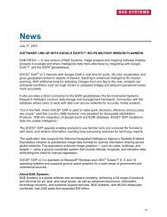 BAE Systems News Release - BAE Systems GXP Geospatial ...