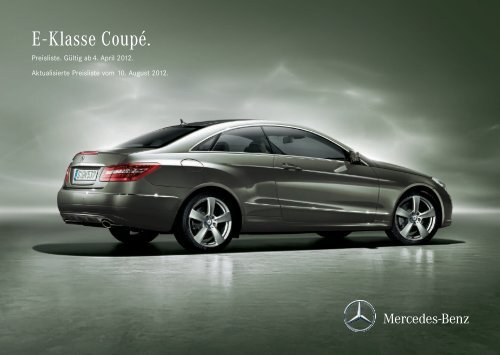 Download Preisliste E-Klasse Coupé - Mercedes-Benz Deutschland