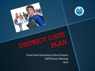 GATE Program Introduction - Chula Vista Elementary School District