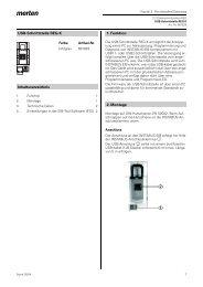 USB-Schnittstelle REG-K Inhaltsverzeichnis 1. Funktion 2 ... - Merten