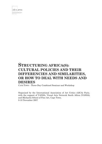 structuring africa(s): cultural policies and their ... - AICA international