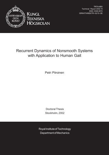 Recurrent Dynamics of Nonsmooth Systems with Application to ...