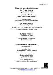 Figuren- und Objekttheater für Erwachsene Junges ... - Meschede