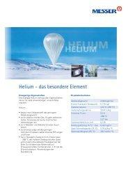 Helium - das besondere Element - Messer