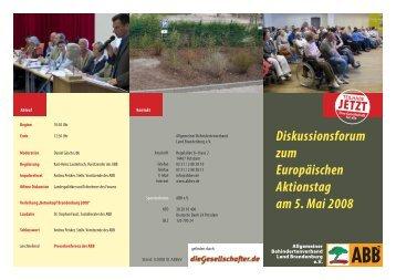 Einladung zum Diskussionsforum am 5. Mai (PDF) - ABB eV