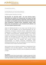Via Facebook zum Top-Unternehmen - JobStairs startet interaktive ...