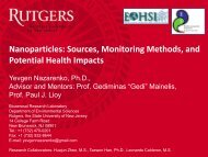 Nanoparticles, Sources, Monitoring Methods, and ... - MARAMA