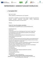 ympäristöagro ii –hankkeen tilaisuudet keväällä 2013 - ProAgria Oulu