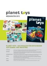 Mediadaten 2013 planet toys - mf verlag