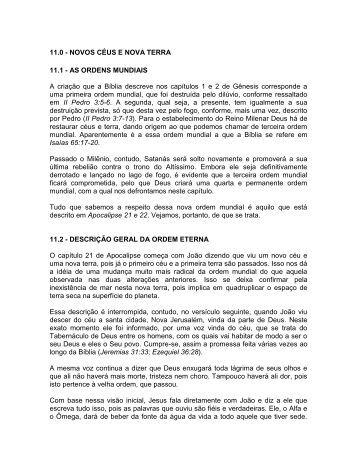 11.0 - NOVOS CÉUS E NOVA TERRA 11.1 - AS ... - Prazer da Palavra