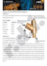 Montage von raid hp Öldruck Instrumentengebern: Liste Y-Adapter ...
