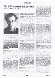 Die USA denken nur an sich. Interview mit Noam ... - Ludwig Watzal