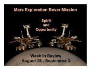 September 3 - Mars Exploration Rover Mission