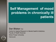 Self Management of mood problems in chronically ill patients