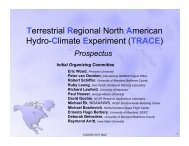 TRACE - NEWS (The NASA Energy and Water cycle Study)