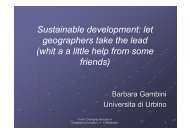 Sustainable development: let geographers take the lead
