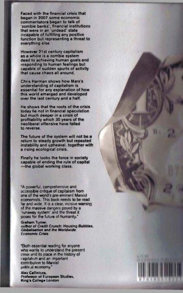 Chris Harman, Zombie Capitalism: Global Crisis and the ... - Free