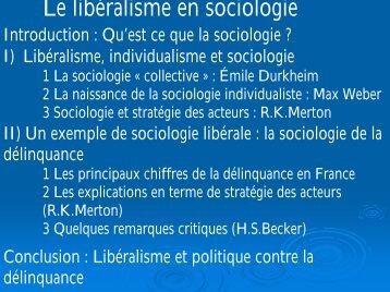 Le libéralisme en sociologie - Laval
