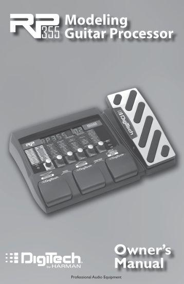 RP355 Owner's Manual - Digitech