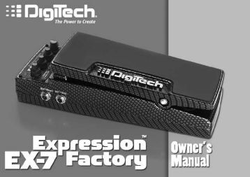 Owner's Manual - Digitech