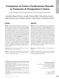 Treinamento em Esteira e Fortalecimento Muscular no Tratamento ...