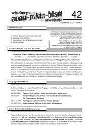 Sonntaktsblatt 42, Ausgabe September 2009 - Arbeitskreis Neues ...