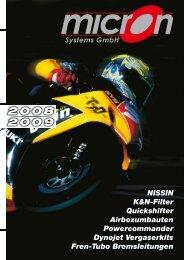NISSIN K&N-Filter Quickshifter Airboxumbauten Powercommander ...